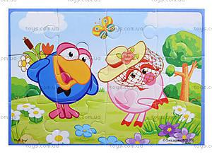 Пазлы детские мягкие А5 «Смешарики», VT1103-35, цена