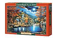 Пазл Castorland на 2000 деталей «Домик у озера», С-200504