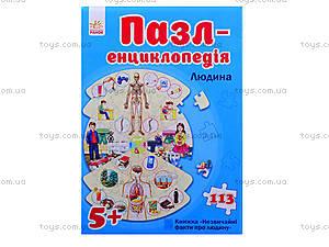 Пазлы-энциклопедия «Человек», Л388001Р7128, купить