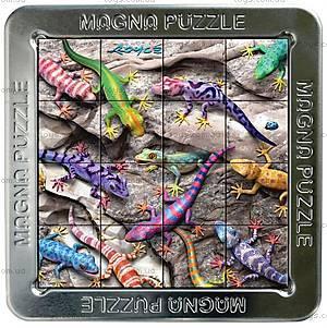 Пазлы «Гекконы» магнитные 3D, 16 элементов, 21195