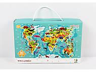 Пазлы «Карта животных», 80 элементов, 300133, фото