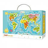 Пазлы «Карта мир», 100 элементов, 300110/100110, фото