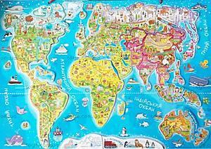 Пазлы «Карта Мира», 75437