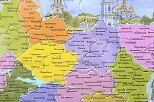Пазлы «Карта Украины», 1*/2*, магазин игрушек
