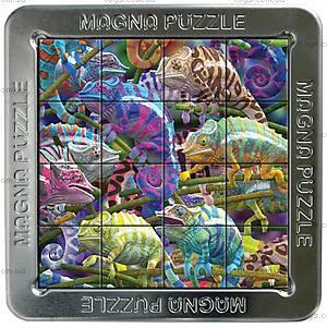 Пазлы «Хамелеоны» магнитные 3D, 16 элементов, 21201