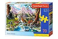 Пазлы «Лесные животные» 70 элементов, B-070091, купить