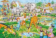 Пазлы макси «Зоопарк», В-040179, фото