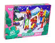 Пазлы maxi «Зимние каникулы» 60 элементов, Mx60-07-15, купить