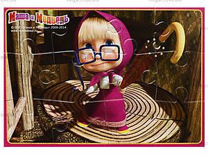 Пазлы мягкие А5 «Маша в очках», VT1103-18, фото