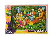 Пазлы мягкие «Маша и Медведь» 35 элементов, 35-08-05, отзывы