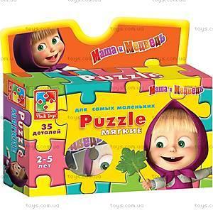 Пазлы мягкие «Маша и Самовар», VT1105-01, детские игрушки