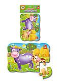 Пазлы на магните «Корова и теленок», VT3205-55, детские игрушки