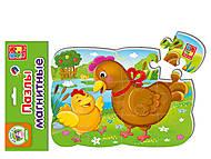 Пазлы на магните «Курочка и цыпленок», VT3205-61, игрушка