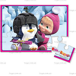 Пазлы на магните «Маша и пингвин», VT3205-31