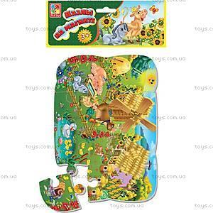 Пазлы магнитные «Слон и попугай», VT3205-12