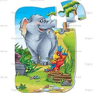 Пазлы магнитные «Слон и попугай», VT3205-12, цена