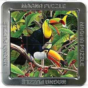 Пазлы «Попугаи» магнитные 3D, 16 элементов, 21218