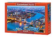 """Пазлы """"Прекрасный вид на Лондон"""", 1000 элементов, С-104291, детские игрушки"""