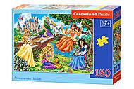 Пазлы «Принцессы в саду» 180 элементов, В-018383, отзывы