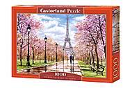 Пазлы «Романтическая прогулка в Париже» 1000 элементов, C-104369, отзывы