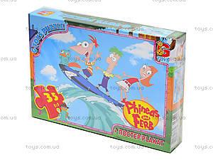 Пазлы детские «Приключение Финеса та Ферба», 35 элементов, PF0020, купить