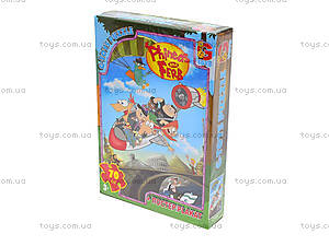 Детские пазлы «Приключение Финеса та Ферба», 70 элементов, PF0023, купить