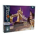 """Пазлы """"Тауэрский мост, Лондон"""" 1000 элементов, C1000-10-01, детские игрушки"""