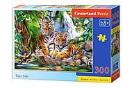 Пазлы «Тигры у водопада» 300 элементов , B-030385, цена