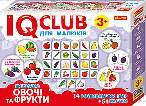 Пазлы «Вивчаємо овочі та фрукти. IQ-club для малышей», 13203004У, купить
