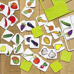 Пазлы «Вивчаємо овочі та фрукти. IQ-club для малышей», 13203004У, игрушки