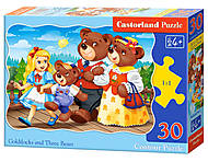 Пазлы «Златовласка и три медведя», 30 элементов, В-03716, фото