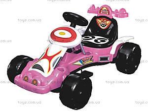 Педальный картинг, розовый, GM1038A