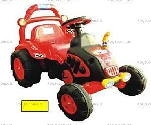 Педальный трактор, желтый, BS003B