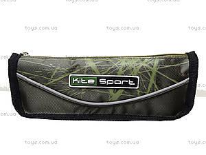 Пенал Kite Sport, черно-зеленый, K14-644-2