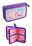 """Пенал двойной картонный """"Mermaid"""", 14034, интернет магазин22 игрушки Украина"""