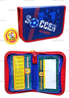 Пенал школьный «Soccer» с наполнителем, 94038