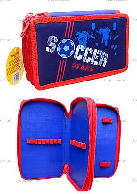 Пенал школьный «Soccer» без наполнителя, 94053