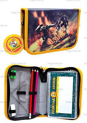 Пенал школьный «Robowars» с наполнителем и разворотом, 94063