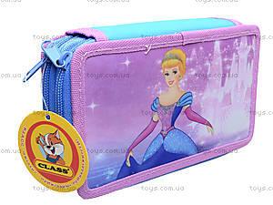 Пенал школьный Princess, без наполнения, 94048