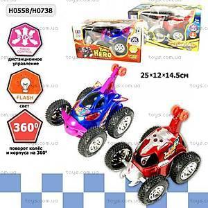 Перевертыш со светящимися колесами, р/у, H0558, игрушки