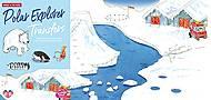 Переводные наклейки Scribble Down «Северный полюс», SD/15, фото
