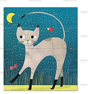 Первые пазлы Djeco 9х12х16 «Кошки», DJ07136, купить