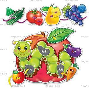Первые игры для малышей «Шнуровка и пуговицы. Фрукты-овощи», VT1307-09, фото