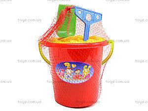Песочный набор с ведром и пасками, 01-107, игрушки