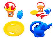 Песочный набор для игры «Цветочек» с лейкой, 39045, фото