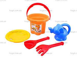 Песочный набор для игры «Цветочек» с лейкой, 39045, магазин игрушек