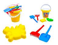 Детский песочный набор с ведерком, 0128, игрушки