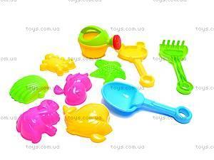 Песочный набор, 10 предметов, 163-121, игрушки