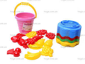 Песочный набор «Цветной», 0489, цена