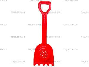 Песочный набор для детей «Лопатка и грабли», 01-110-2, игрушки